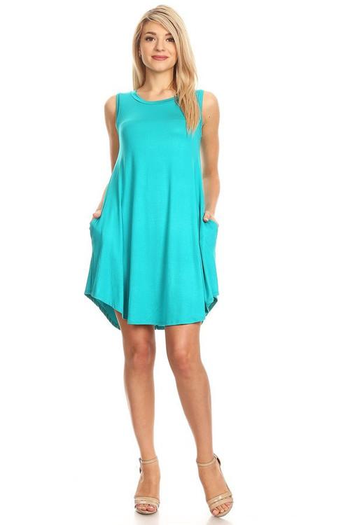 Pocket Swing Dress: Jade