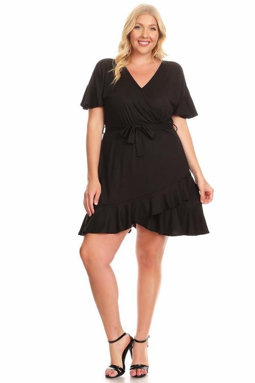Knit Wrap Dress (Plus)