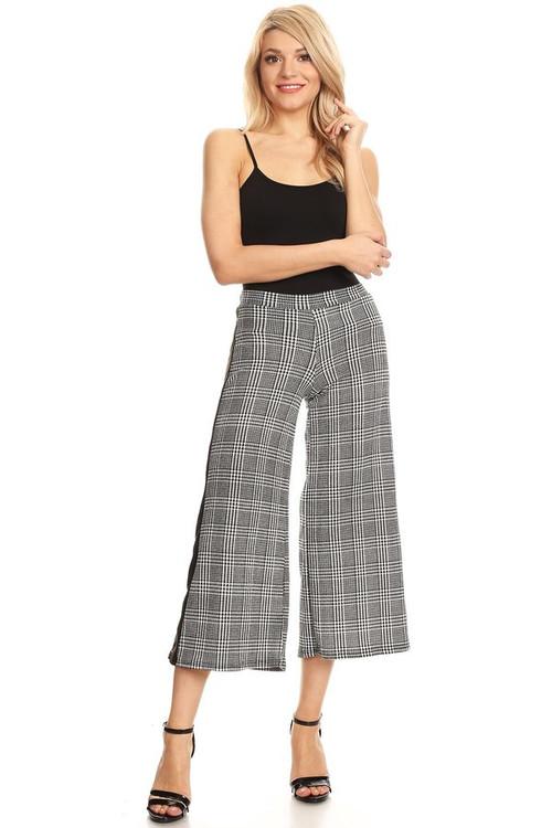 Culotte Pants: Plaid