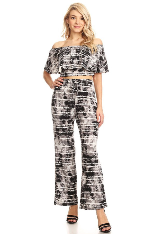 Tie Dye Ruffle Co Ord Set