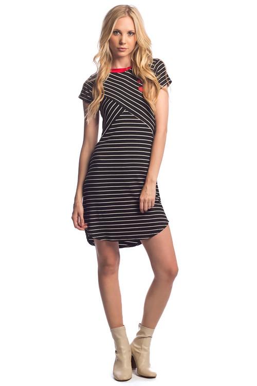 The Varsity Dress: Black
