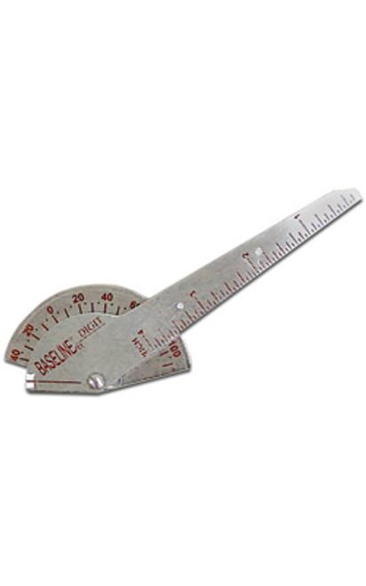 """Goniometer - Stainless Steel 180° Digit 4"""" (10 cm)"""