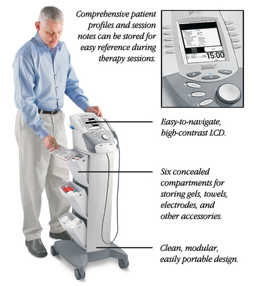Chattanooga  Legend XT Combo Unit- 4 Channel Stim with Ultra Sound and Cart