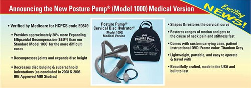 Posture Pump Cervical Traction Medical Version