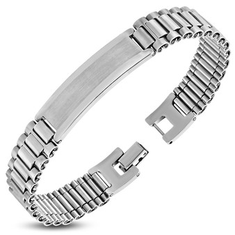 Personalized Stainless Steel Bracelet with Free Engraving