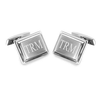 Quality Stainless Steel Rectangular Cufflinks - Free Engraving