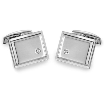 Quality Stainless Steel Square Cufflinks - Free Engraving