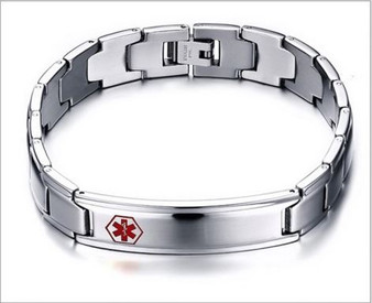 Personalized Quality Stainless Steel Medical ID Bracelet