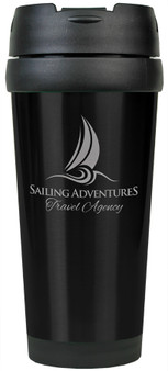 16 oz. Personalized Travel Mug - Free Engraving
