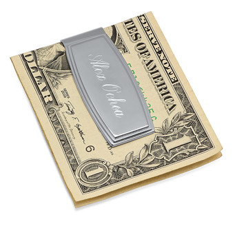 Personalized Stainless Steel High Polish Quality Money Clip