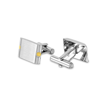 Personalized Quality Stainless Steel Two Tone  Cufflinks