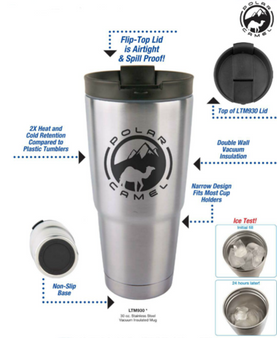 Personalized Polar Camel 30 oz. Stainless Steel  Travel Mug