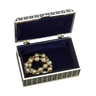 Personalized Small Vintage Style Jewelry Box