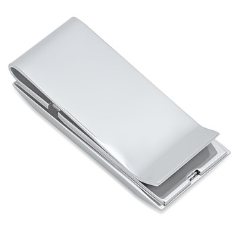 Quality Stainless Steel Two Tone Yiddish Proverb Money Clip