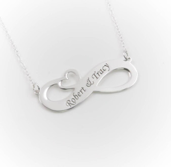 Personalized Sterling Silver Infinity Pendant