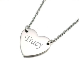 Quality Stainless Steel Heart Charm Pendant Necklace
