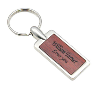Personalized Quality Rosewood Keychain
