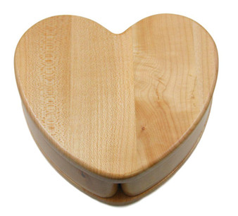 Personalized Maple Wood Heart Shape Keepsake box