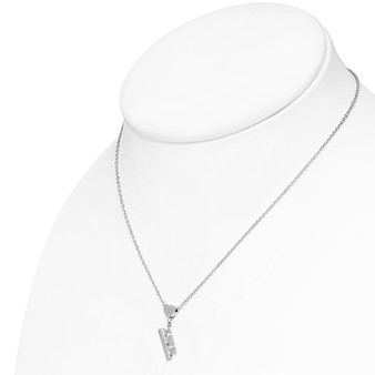 Personalized Stainless Steel Love Heart Charm Necklace