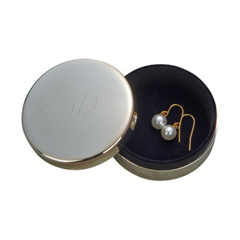 "Personalized Quality 3"" High Polish  Round Jewelry Box"