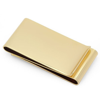 Quality Double Sided Gold Color Money clip