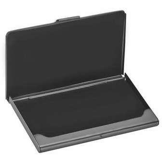 Quality Gunmetal Color Brushed Business Card Holder