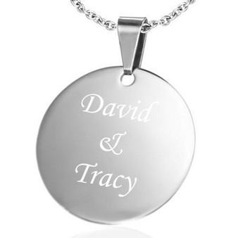 engraved charm