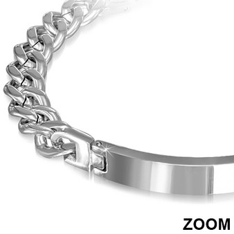 Personalized Stainless Steel ID Bracelet