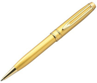 Personalized Ballpoint Pen in Satin Gold Brass