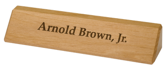 "10"" Personalized Red Alder Desk Wedge"