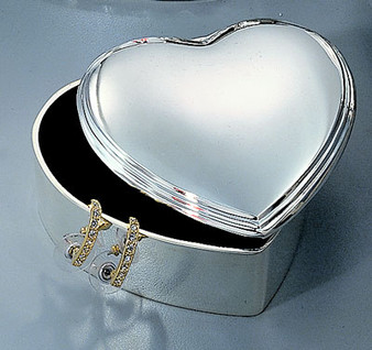 Personalized Heart Shaped Jewelry Box