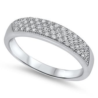 Personalized Sterling Silver Ring with Cubic Zirconia