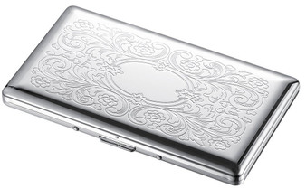 Personalized Floral Pattern 100s Cigarette Case