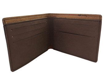 Personalized Dark Brown Leatherette Bifold Wallet