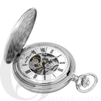 Polished Finish Double Hunter Case Mechanical Pocket Watch by Charles Hubert