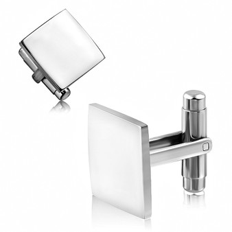 Personalized Stainless Steel Square Cufflinks - Free Engraving