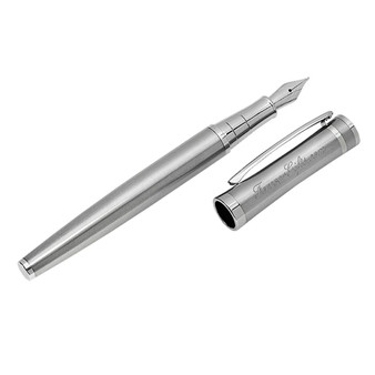 Personalized Quality Silver Color Fountain Pen