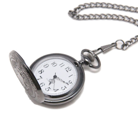 Personalized Quality Ice Black Pocket Watch with design