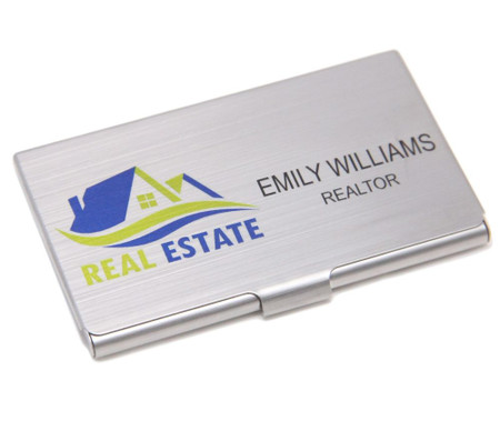 Personalized full color stainless steel business card holder personalized full color stainless steel business card holder reheart Gallery