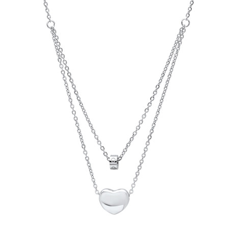 Personalized stainless steel small heart charm necklace personalized stainless steel small heart charm necklace aloadofball Images