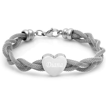 Quality Stainless Steel Heart Charm Bracelet