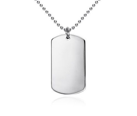 Personalized sterling silver dog tag free engraving forevergifts personalized sterling silver dog tag free engraving aloadofball Images