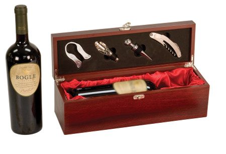 Personalized Single Wine Box With Tools Forevergifts Com