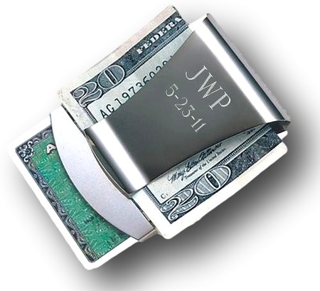 personalized smart money clip card holder free engraving - Money Clip And Card Holder