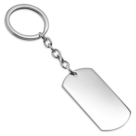personalized stainless steel dogtag keychain free engraving