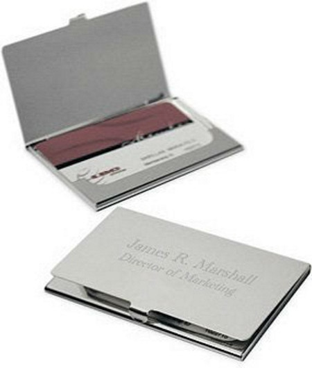 Personalized brushed metal business card holder forevergifts personalized brushed metal business card holder colourmoves