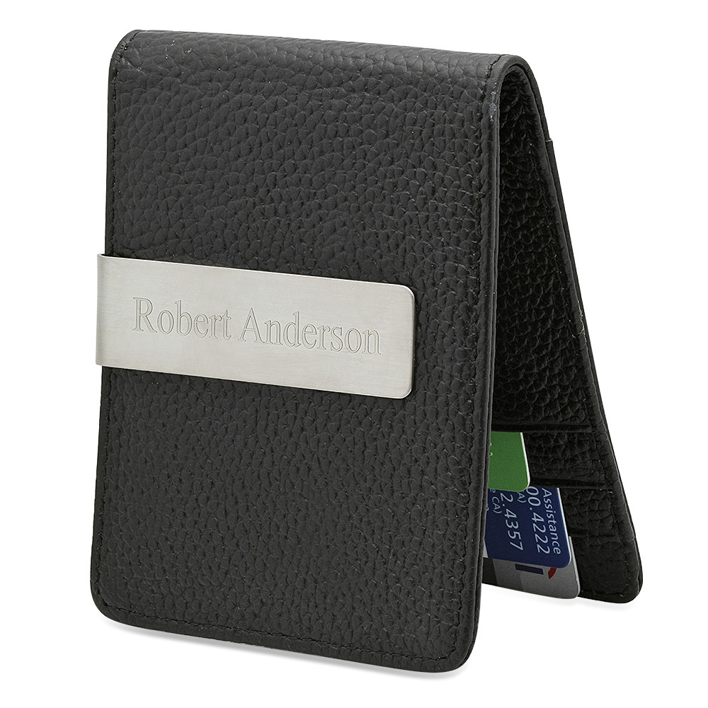 Personalized Men\'s Slim Money Clip / Wallet - Free Engraving ...