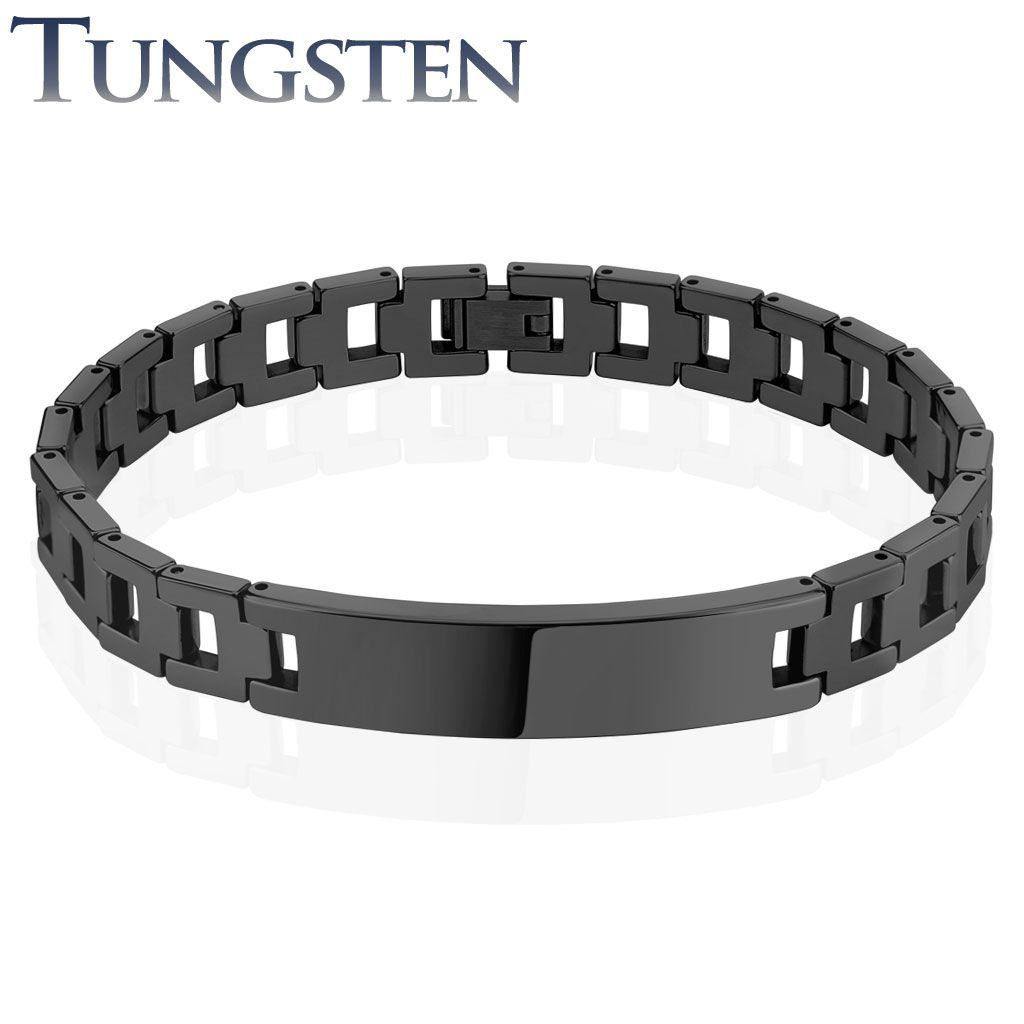 bracelet tungsten fiber s carbon inlay carbide magnetic men en bracelets