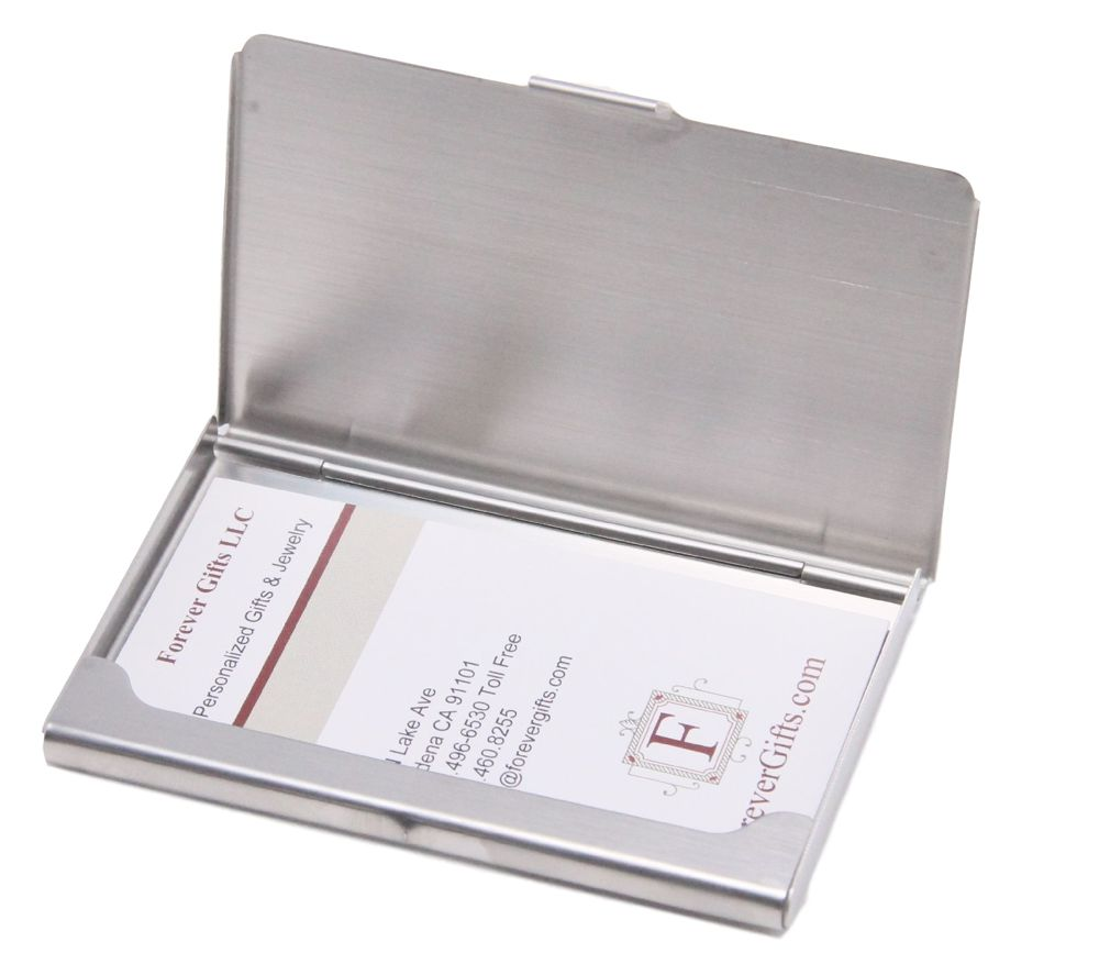 Personalized full color stainless steel business card holder personalized card holder personalized full color stainless steel business card holder colourmoves