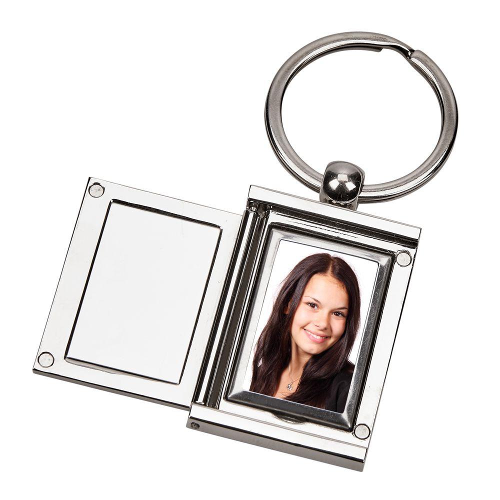 Personalized Rectangular Locket Key Chain - ForeverGifts.com